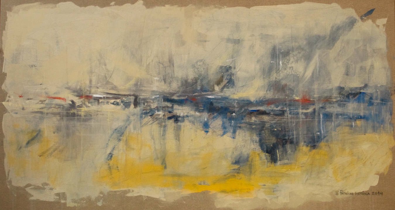 How Things Neither Begin Nor End #2 . Mixed media on paper . 90x170 cm