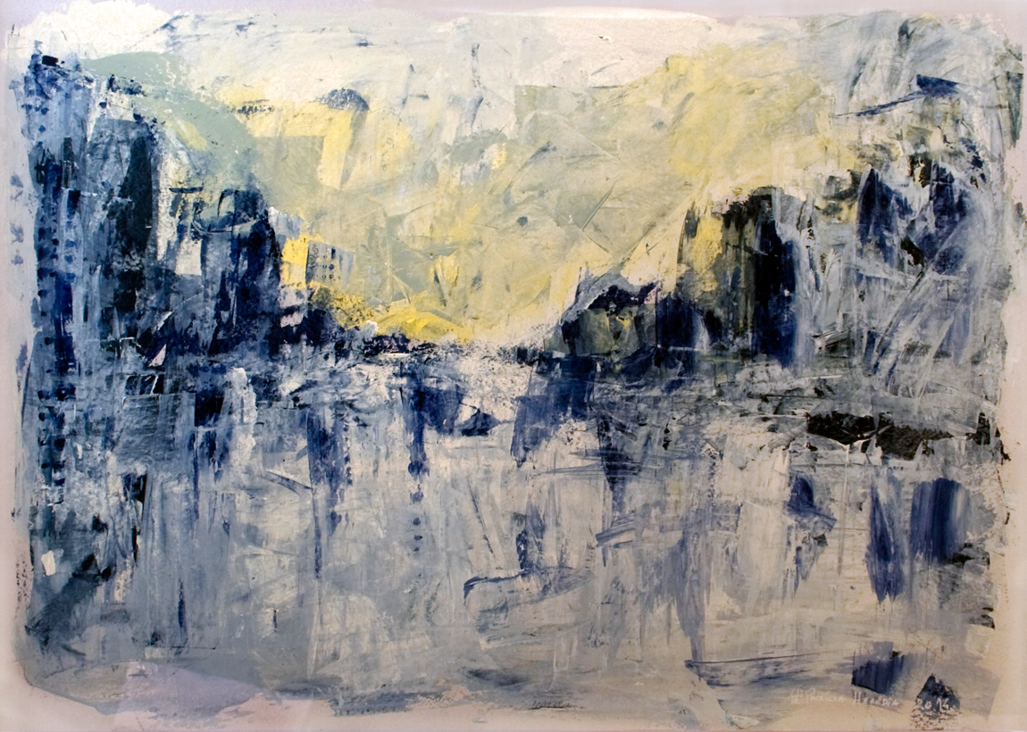 How Things Neither Begin Nor End #4 . Mixed media on paper . 75x110 cm