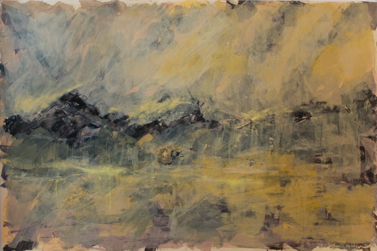How Things Neither Begin Nor End #5 . Mixed media on paper . 80x120 cm