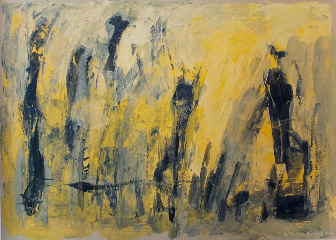 How Things Neither Begin Nor End #6 . Mixed media on paper . 75x110 cm