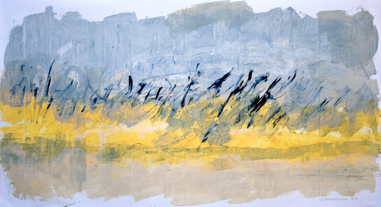 How Things Neither Begin Nor End #7 . Mixed media on paper . 80x140 cm