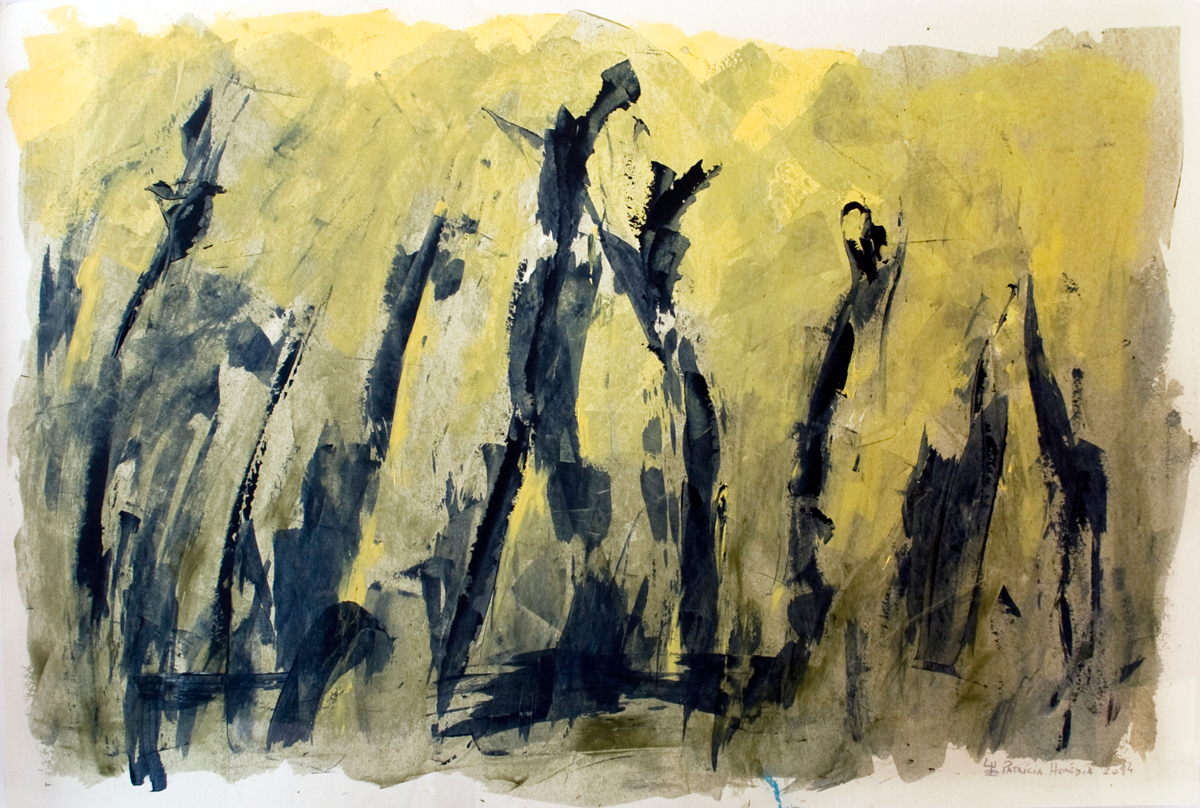 How Things Neither Begin Nor End #8 . Mixed media on paper . 80x120 cm
