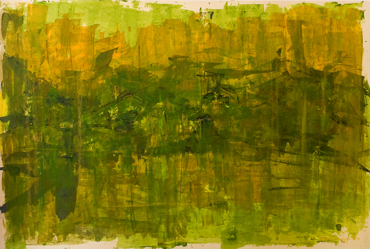 How Things Neither Begin Nor End #12 . Mixed media on paper . 80x120 cm