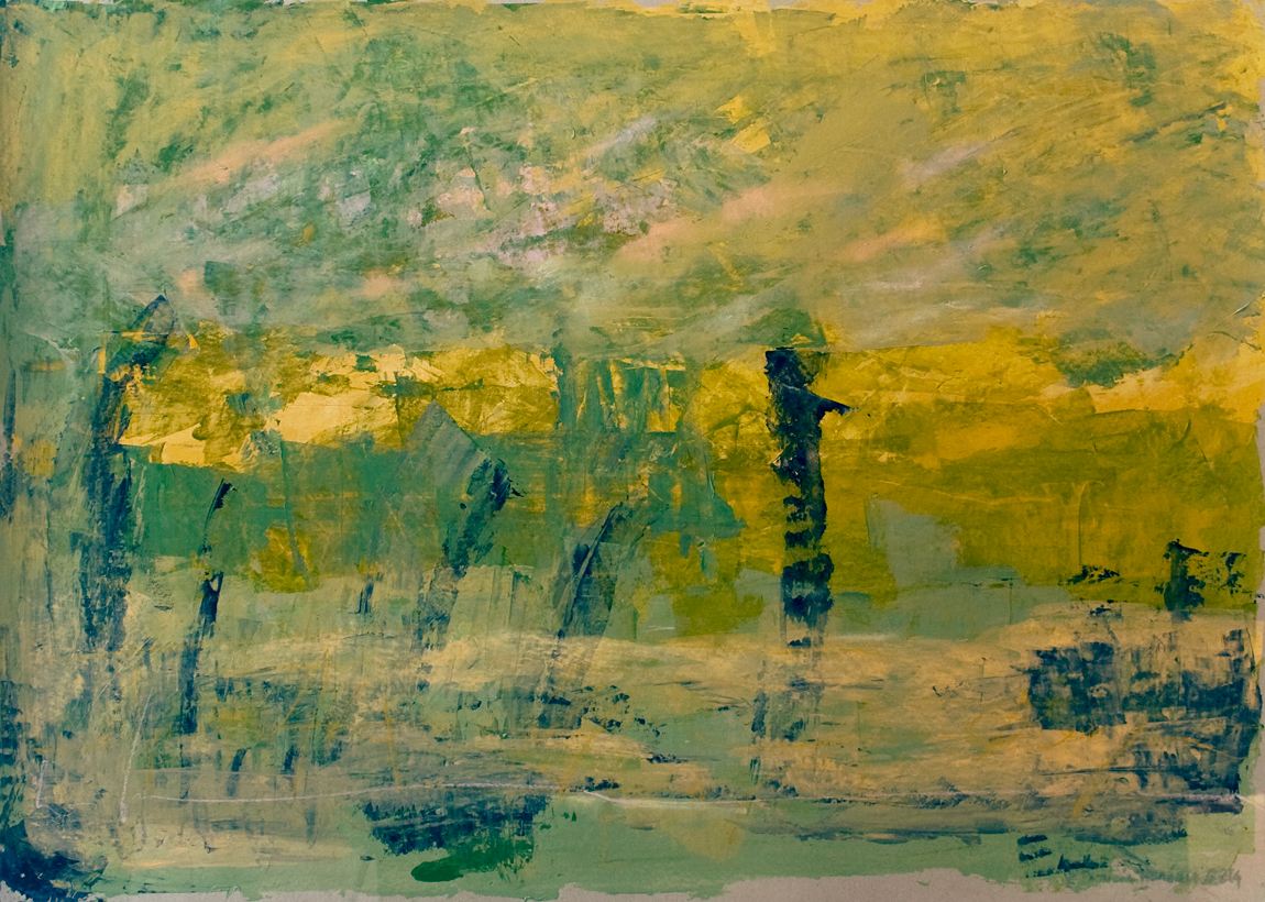 How Things Neither Begin Nor End #13 . Mixed media on paper . 80x120 cm