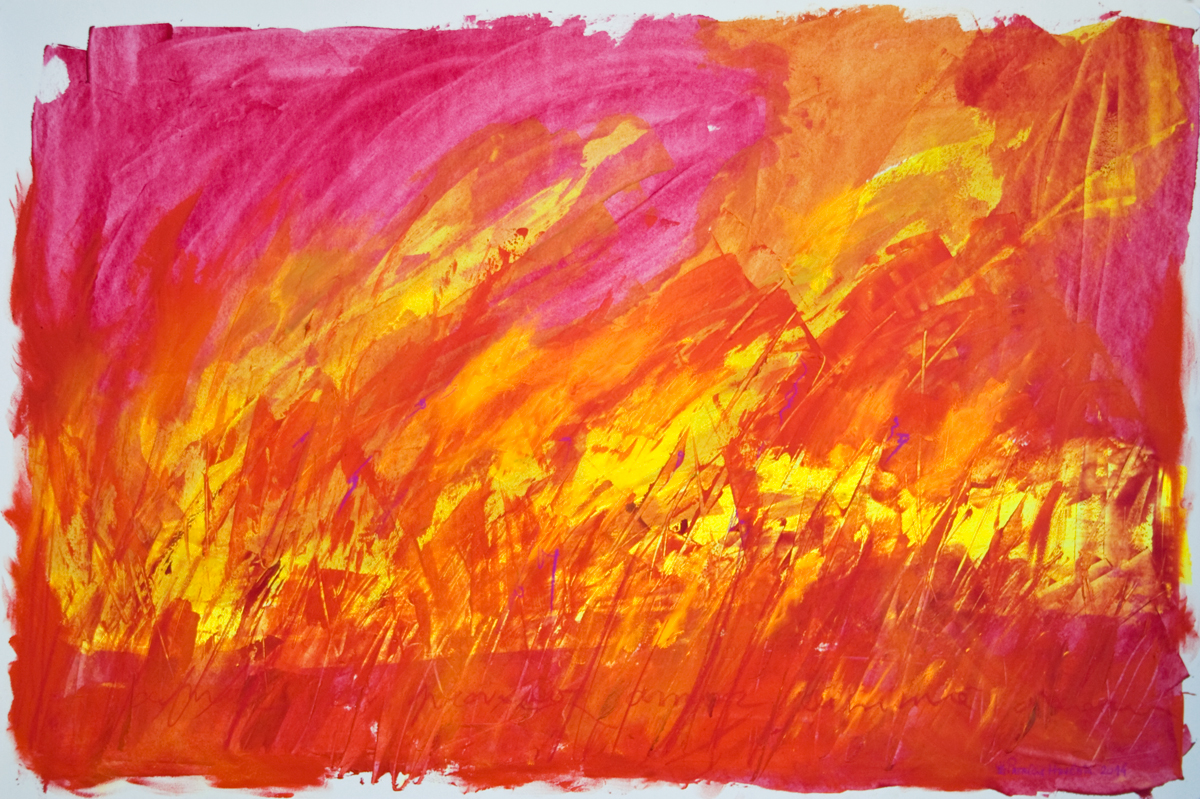 How Things Neither Begin Nor End #15 . Mixed media on paper . 80x120 cm